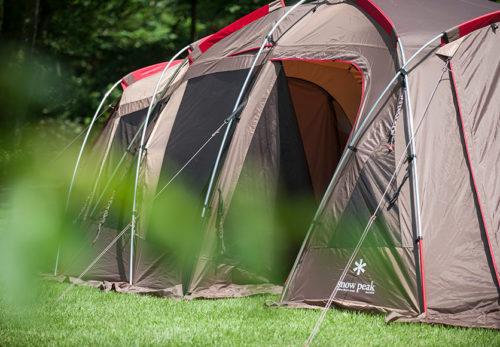 スノーピークのテントでキャンプ